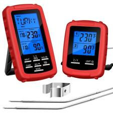 Digital Meat Thermometer Wireless with 2 Probes Remote Cooking Food Timer Alarm