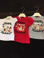 NWT NEW Gucci baby girls red white grey holiday tee shirt 3/6 6/9 9/12 12/18 24m