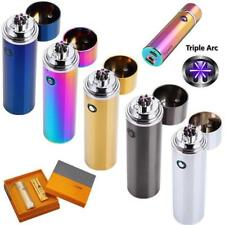 Electric USB Recharging Triple Arc 4 Cross Plasma Windproof Flameless Lighter