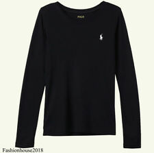 Ralph Lauren Polo Ladies Custom Fit Crew Neck Long Sleeved T-Shirt Top S To L