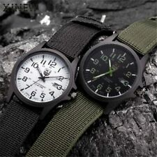 XI  Men Date Quartz Watch Army Soldier Military Canvas Strap Analog Watches S...