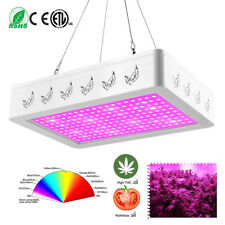 600/1000W/2000W LED Grow Lights Panel Hydroponic Plant Veg Growing Full Spectrum