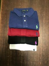 Ralph Lauren Ladies Skinny Fit Short Sleeves Polo top in Different colors