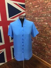 New Ladies Lagoon Blue Blouse Shirt, Formal Wear !!BUY ONE GET ONE FREE!!