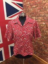New Ladies Cherry Print Blouse Shirt, Formal Wear, Business Wear, Casual Wear