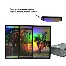 4 Languages Holographic Tarot Cards Deck Future Telling Divination Rider Waite