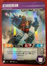 Transformers TCG Rise of Combiners: Starscream SRT & Variable Rare & Uncommons