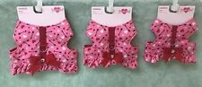 Smoochie Pooch Pink with Arrow and Hearts Harness with Ruffle Bottom