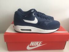 official photos d4790 4842c Nike Air Max 1 (GS) - 555766 410 - Midnight Navy White Black Trainers