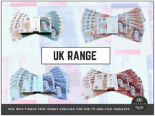 x100 NOTES PROP MONEY UK POUNDS £50 GBP FLEX BANK TV Strap Movies Play Fake Rich