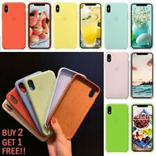Genuine Original Leather Silicone Cover For iPhone XS Max XR XS X 8 7Plus Case