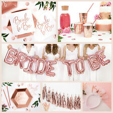 ROSE GOLD HEN PARTY ACCESSORIES Hen Night Decorations | Bride to Be Tableware
