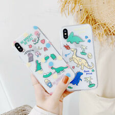 Lovely Dinosaurs Silicone Phone Case Cover For iPhone X XS Max XR 6 7 8 Plus
