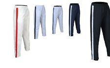 Mens Tracksuit Bottoms Mesh Lining Silky Casual Gym Joggers Sweat Pants 1 Stripe