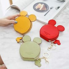 Mickey Wallet Card Holder Mouse money Bag gift Purse Id Badge Lanyard key Chain