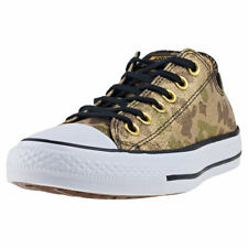 Converse Chuck Taylor All Star Ox Womens Khaki Gold Canvas Casual Trainers