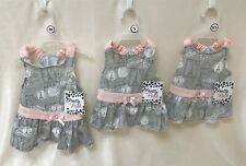 Smoochie Pooch Pretty in Pink Paris Gray and Pink Dog Dress