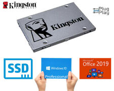 NEW SSD Drive With Windows 10 Professional & Latest Microsoft Office 2019