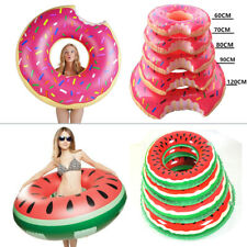 Inflatable Swim Ring Giant Bite Shape Donut Swimming Pool Water Float Adult Kids