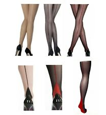 17355ff2e Classic Vintage Glamour Sheer Jive Back Seamed   French Heel Tights  Pantyhose-kp