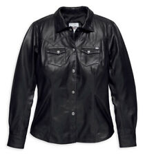 SALE!!!! Harley-Davidson® Women's Melrose Light Leather Shirt , Black 97189-18VW