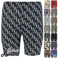 New Womens Leopard Camo Printed Stretchy Dance Active Gym Sports Cycling Shorts