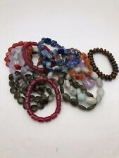 Handmade Natural Stone Stretch Beaded Bracelets ~ Various ~ Stones Sizes Shapes