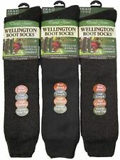 4 Ladies GOLD EDITION Wool Blend WELLINGTON Boot Socks / UK 4-7
