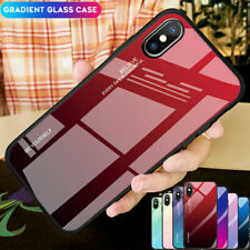 Gradient Tempered Glass Armor Case Cover for iPhone XS Max XR X/8 7 6s Plus Skin