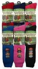 4 Ladies GOLD EDITION Wool Blend WELLINGTON Boot Socks / Assorted / UK 4-7