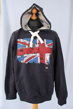 CEDAR WOOD STATE MENS NAVY UNION JACK  HOODIE XXL