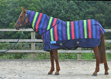 """RED//BLACK COMBO MEDIUM WEIGHT TURNOUT RUG 3/'0/"""" TO 5/'0/"""""""