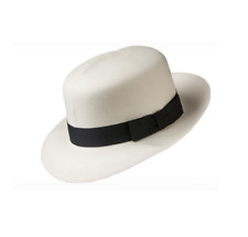 43a034c1 Olney Men's Folding Panama Hat with Black Band SM68 Ideal For Travel
