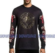 Affliction Black Label Spine A21579 Long Sleeve Fashion Graphic T-shirt For Men