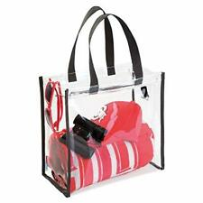 New Clear NFL College Stadium Approved Tote Bag Storage Holder Organizer Zipper
