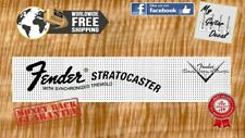 Fender Stratocaster Guitar Decal Headstock logo Waterslide Classic Black x 2pcs