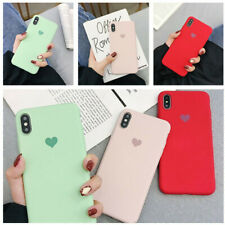 Lovely Heart Silicone Pattern Soft TPU Cover Case For iPhone XS Max XR 8 7 6S 6+