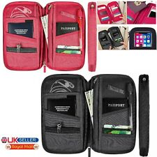 UK Travel Wallet Passport Holder RFID Organiser Pouch for Cards Documents IDS JF