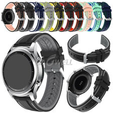 22mm Watch Band Silicone Men Women Sports Watch Wrist Strap Waterproof Rubber