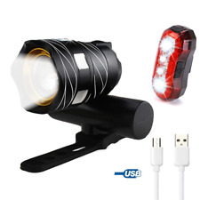LED Bicycle Light Bike Front Lamp Outdoor Zoomable Torch Headlight USB