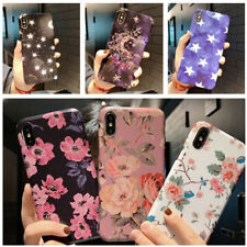 Slim Soft Rubber IMD Flower Pattern Case Cover For iPhone XS Max XR X 8 7 6 Plus