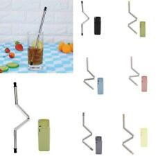 1X Collapsible Straw Reusable Drinking Straws Stainless Steel interesting Straw