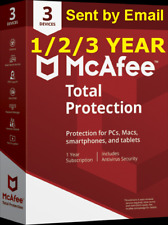 Mcafee Total Protection 2019 3 PC/Devices 1/2/3 Year Antivirus Download Version