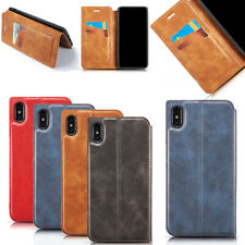 For Apple iPhone XS Max XR X 7 8 6 Plus Genuine Luxury Leather Slim  Case Cover