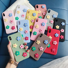 For iPhone XS Max XR X 8 7 Plus 3D Cute Flower Pattern Silicone Soft Case Cover
