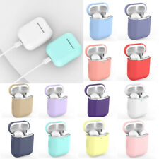 For Apple Airpod Earphone Protective Case Cover Cute Candy Simple Color Silicone