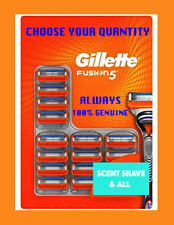 GILLETTE FUSION5 RAZOR BLADES OFFICIAL STOCK 100% GENUINE NEW FAST FREE POSTAGE