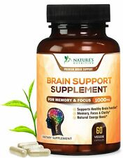 Extra Strength Brain Supplement Nootropic Booster 1000mg - Memory Pills for