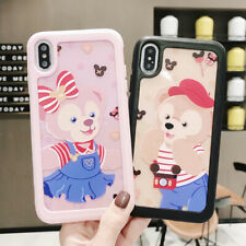 For iPhone 6-XS Max Funny Cute Brown Bear Soft UNBreak Phone Case Cover