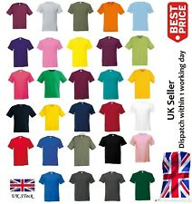 Fruit Of The Loom T Shirt T Shirts Short Sleeve 100% Cotton Plain Mens / Womens